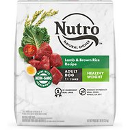 Nutro Wholesome Essentials Healthy Weight Adult Pasture Fed Lamb & Rice Recipe Dry Dog Food, 30-lb bag