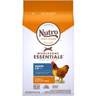 Nutro Wholesome Essentials Indoor Senior Farm-Raised Chicken & Brown Rice Recipe Dry Cat Food, 3-lb bag