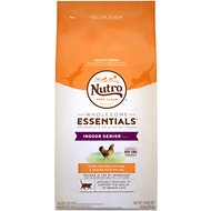 Nutro Wholesome Essentials Indoor Senior Farm-Raised Chicken & Brown Rice Recipe Dry Cat Food, 6.5-lb bag