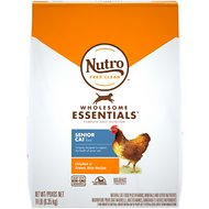 Nutro Wholesome Essentials Chicken & Brown Rice Recipe Senior Dry Cat Food, 14-lb bag