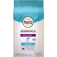 Nutro Wholesome Essentials Indoor Senior White Fish & Brown Rice Recipe Dry Cat Food, 3-lb bag