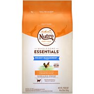 Nutro Wholesome Essentials Weight Management Adult Farm-Raised Chicken & Brown Rice Recipe Dry Cat Food, 3-lb bag