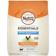 Nutro Wholesome Essentials Weight Management Adult Farm-Raised Chicken & Brown Rice Recipe Dry Cat Food, 14-lb bag