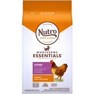 Nutro Wholesome Essentials Kitten Farm-Raised Chicken & Brown Rice Recipe Dry Cat Food, 3-lb bag