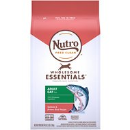 Nutro Wholesome Essentials Adult Salmon & Brown Rice Recipe Dry Cat Food, 3-lb bag