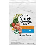 Nutro Wholesome Essentials  Puppy Farm Raised Chicken, Brown Rice & Sweet Potato Recipe Dry Dog Food, 5-lb bag