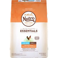 Nutro Wholesome Essentials Large Breed Adult Farm Raised Chicken, Brown Rice & Sweet Potato Recipe Dry Dog Food, 15-lb bag