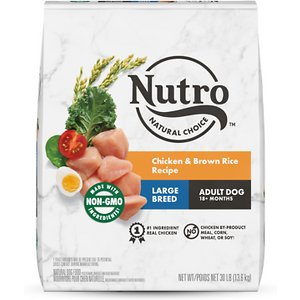 Nutro Wholesome Essentials Large Breed Adult Farm Raised Chicken, Brown Rice & Sweet Potato Recipe Dry Dog Food, 30-lb bag