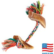 USA Bones & Chews Cotton Rope with Hooves Dog Toy, Color Varies
