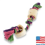 USA Bones & Chews Cotton Rope with Bones Dog Toy, Color Varies