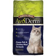 AvoDerm Natural Grain-Free Ocean Fish & Chicken Meal Adult Dry Cat Food, 3.5-lb bag