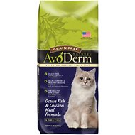 AvoDerm Natural Grain-Free Ocean Fish & Chicken Meal Adult Dry Cat Food, 6-lb bag
