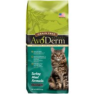 AvoDerm Natural Grain-Free Turkey Adult Dry Cat Food, 6-lb bag