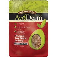 AvoDerm Natural Grain-Free Chicken & Duck Recipe in Gravy Cat Food Pouches, 3-oz, case of 24