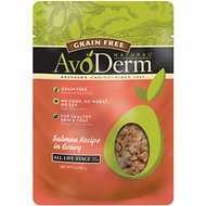 AvoDerm Natural Grain-Free Salmon Recipe in Gravy Cat Food Pouches, 3-oz, case of 24