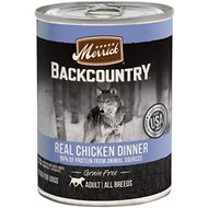 Merrick Backcountry Grain-Free 96% Real Chicken Recipe Canned Dog Food, 12.7-oz, case of 12