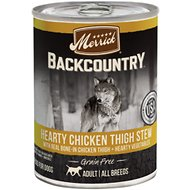Merrick Backcountry Grain-Free Hearty Chicken Thigh Stew Canned Dog Food, 12.7-oz, case of 12