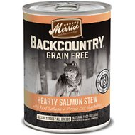 Merrick Backcountry Grain-Free Hearty Salmon Stew Canned Dog Food, 12.7-oz, case of 12