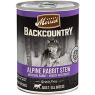 Merrick Backcountry Grain-Free Alpine Rabbit Stew Canned Dog Food, 12.7-oz, case of 12