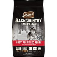 Merrick Backcountry Raw Infused Great Plains Red Recipe with Beef, Lamb & Rabbit Grain-Free Dry Dog Food, 22-lb bag