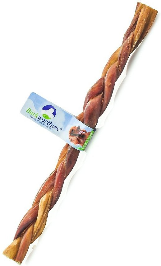 barkworthies junior braided 12 bully sticks dog treat. Black Bedroom Furniture Sets. Home Design Ideas
