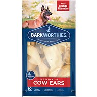 Barkworthies Cow Ears Dog Treats, 10 pack