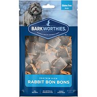 Barkworthies Rabbit Bon Bons Dog Treats, 8-oz bag