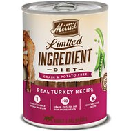Merrick Limited Ingredient Diet Grain-Free Real Turkey Recipe Canned Dog Food, 12.7-oz, case of 12