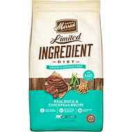 Merrick Limited Ingredient Diet Grain-Free Real Duck & Chickpeas Recipe Dry Dog Food, 22-lb bag