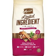 Merrick Limited Ingredient Diet Grain-Free Real Turkey & Chickpeas Recipe Dry Dog Food, 22-lb bag