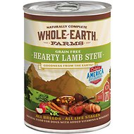 Whole Earth Farms Grain-Free Hearty Lamb Stew Canned Dog Food, 12.7-oz, case of 12