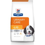 Hill's Prescription Diet c/d Multicare Urinary Care Chicken Flavor Dry Dog Food, 8.5-lb bag