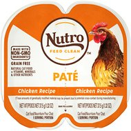 Nutro Perfect Portions Grain-Free Chicken Recipe Cat Food Trays, 2.6-oz, case of 24