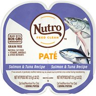 Nutro Perfect Portions Grain-Free Salmon & Tuna Paté Recipe Cat Food Trays, 2.6-oz, case of 24 twin-packs