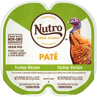 Nutro Perfect Portions Grain-Free Turkey Paté Recipe Cat Food Trays, 2.6-oz, case of 24 twin-packs