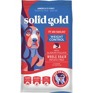 Solid Gold Fit & Fabulous Low Fat/Low Calorie with Fresh Caught Alaskan Pollock Adult Dry Dog Food, 4-lb bag