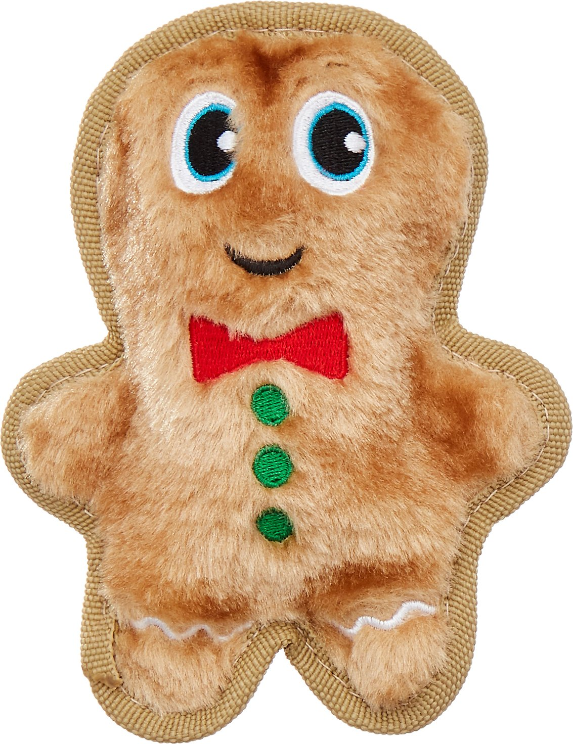 Outward Hound Holiday Invincibles Mini Gingerbread Man Dog Toy