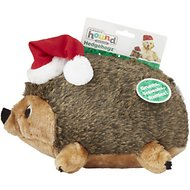 Outward Hound Holiday HedgehogZ with Santa Hat Dog Toy, Deluxe