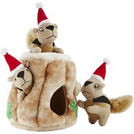 Outward Hound Holiday Hide A Squirrel Puzzle Dog Toy