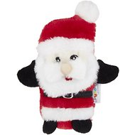 Outward Hound Holiday Invincibles Santa Squeaker Mat Dog Toy, Mini