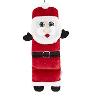 Outward Hound Holiday Invincibles Santa Squeaker Mat Dog Toy, Medium