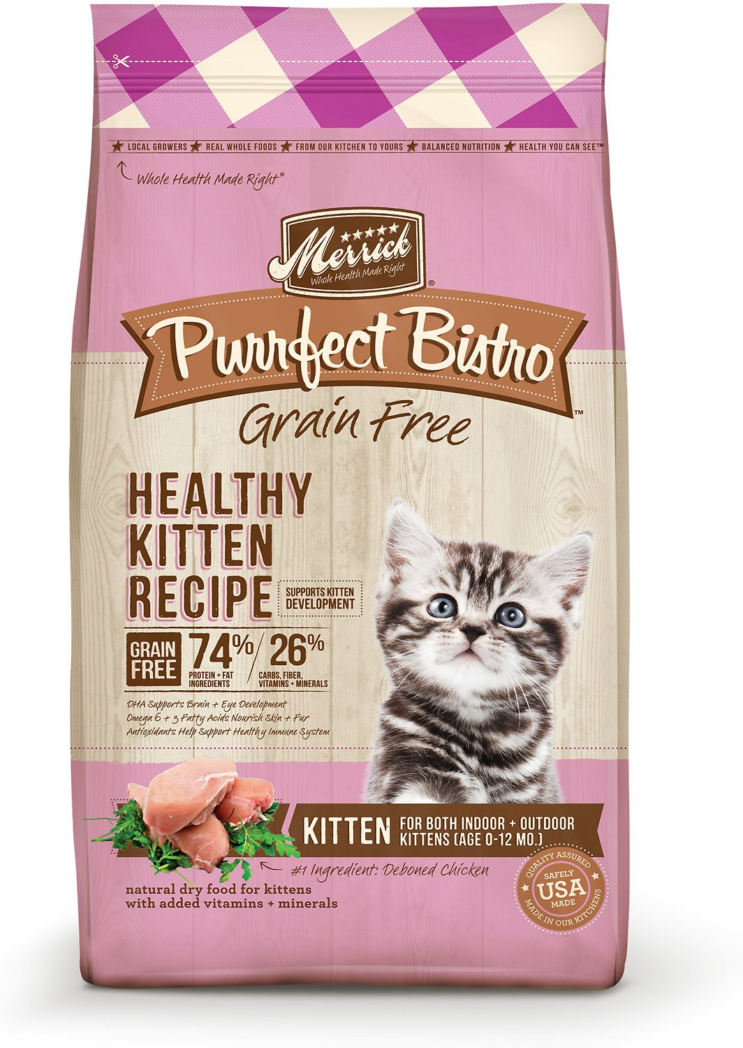 Merrick purrfect bistro grain free healthy kitten recipe dry cat video forumfinder Image collections