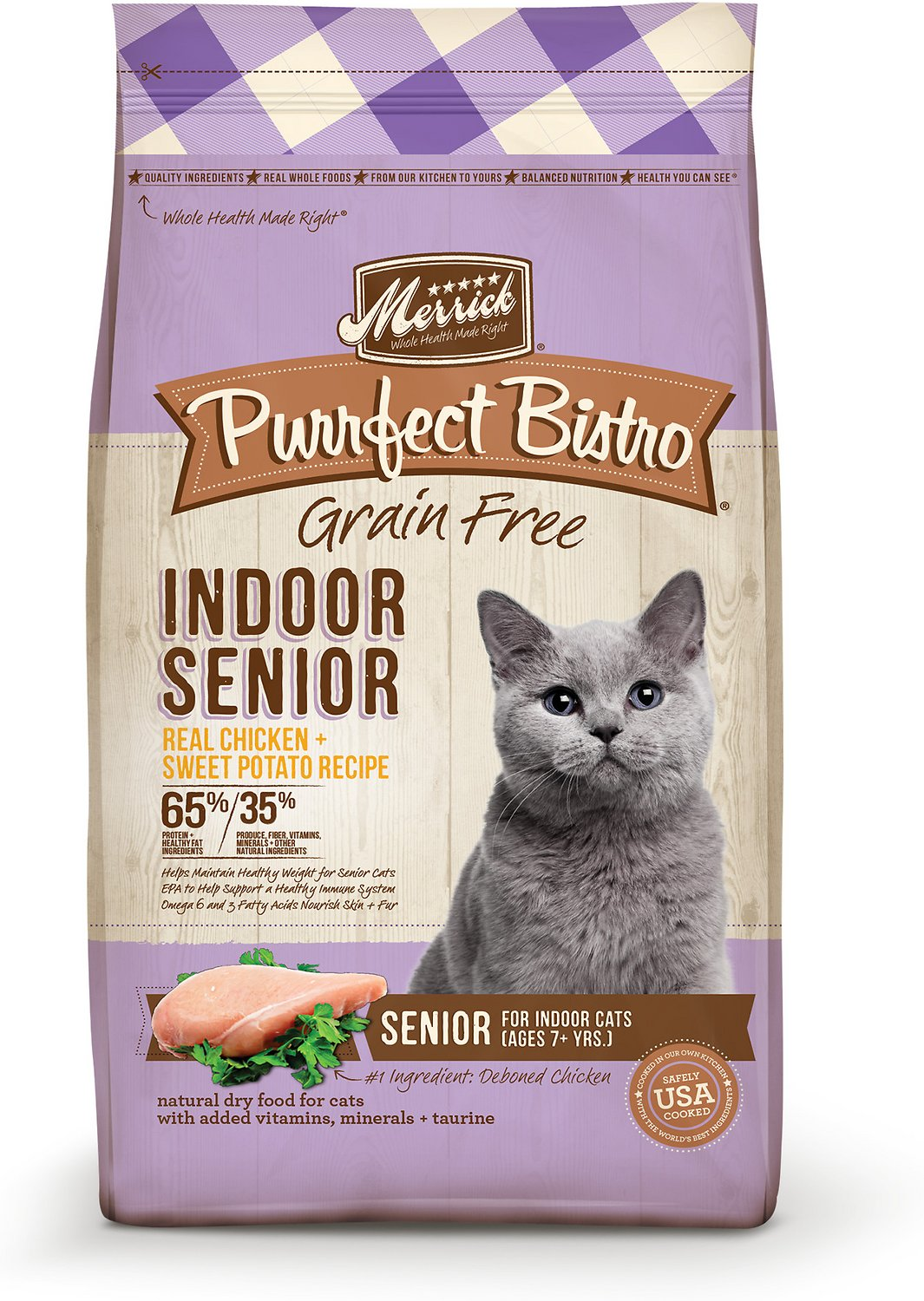 Merrick purrfect bistro grain free healthy senior recipe dry cat video forumfinder Images