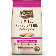 Merrick Limited Ingredient Diet Grain-Free Real Turkey Recipe Dry Cat Food, 4-lb bag