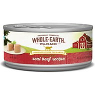 Whole Earth Farms Grain-Free Real Beef Pate Recipe Canned Cat Food, 2.75-oz, case of 24
