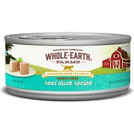 Whole Earth Farms Grain-Free Real Duck Pate Recipe Canned Cat Food, 2.75-oz, case of 24
