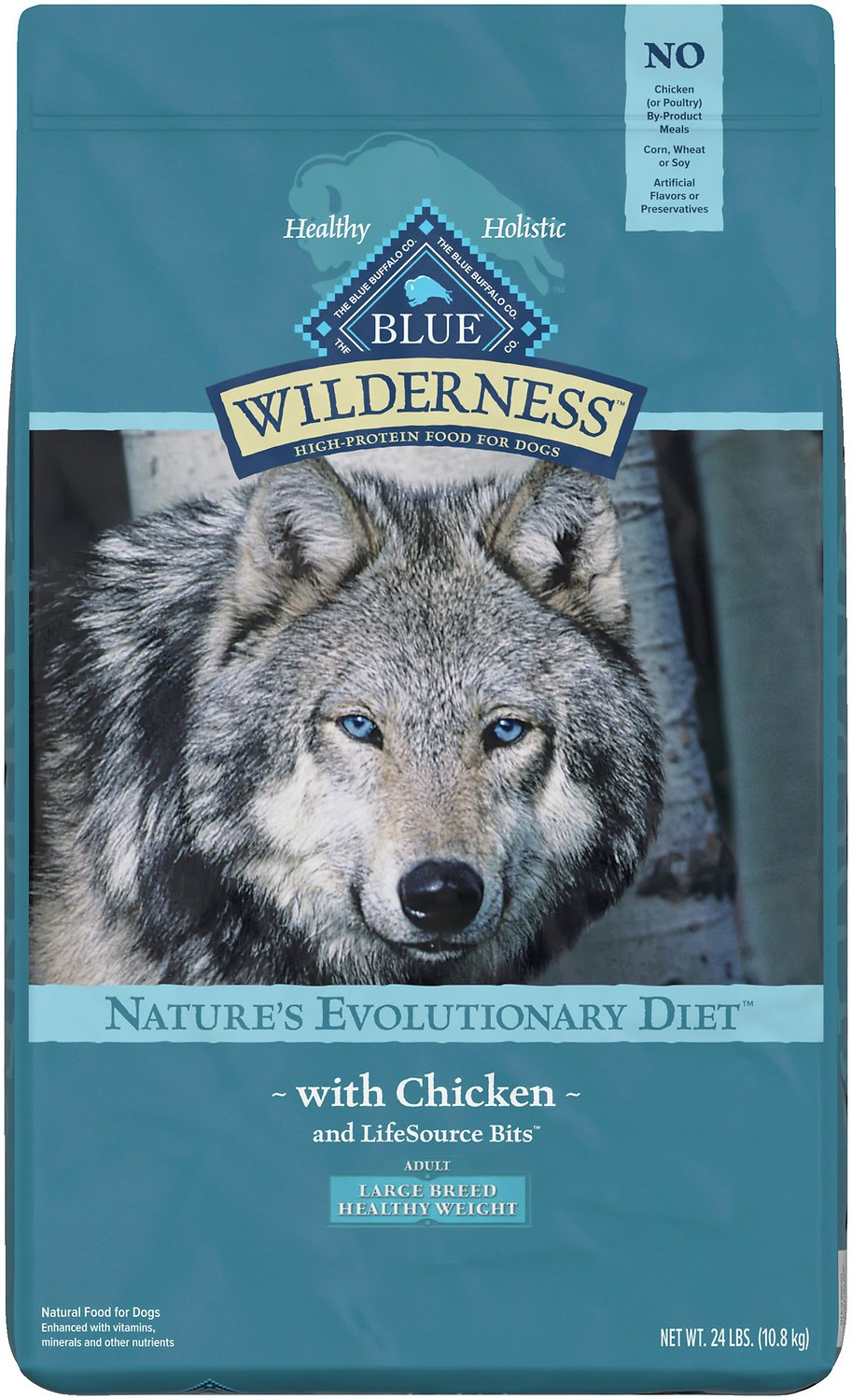 Blue Buffalo Wilderness Healthy Weight Chicken Recipe Adult Large Breed  Grain-Free Dry Dog Food, 24-lb bag