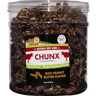 Pet 'n Shape Beef Lung CHUNX PB Flavor Dog Treats, 2-lb tub