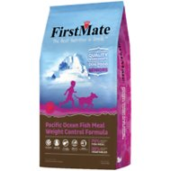 FirstMate Weight Control/Senior Pacific Ocean Fish Meal Formula Limited Ingredient Diet Grain-Free Dry Dog Food, 5-lb bag