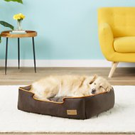 P.L.A.Y. Pet Lifestyle and You Urban Plush Lounge Bed, Orange, Medium